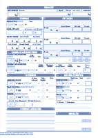 image regarding Pathfinder Character Sheets Printable titled Dyslexic Persona Sheets