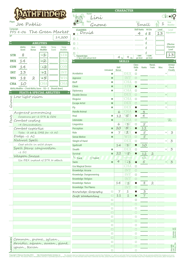 photograph regarding Pathfinder Printable Character Sheet identified as Dyslexic Persona Sheets