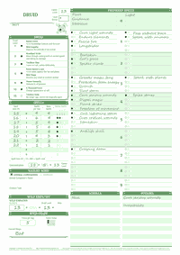 graphic relating to Pathfinder Character Sheet Printable named Dyslexic Personality Sheets