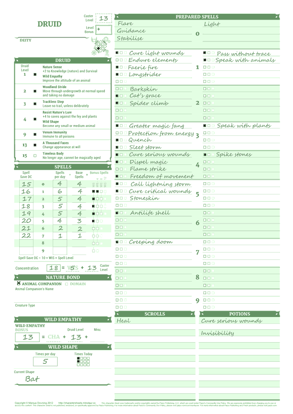 photo regarding Starfinder Character Sheet Printable identify Dyslexic Personality Sheets