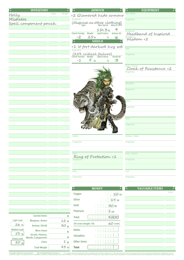 graphic regarding Pathfinder Character Sheets Printable called Dyslexic Personality Sheets